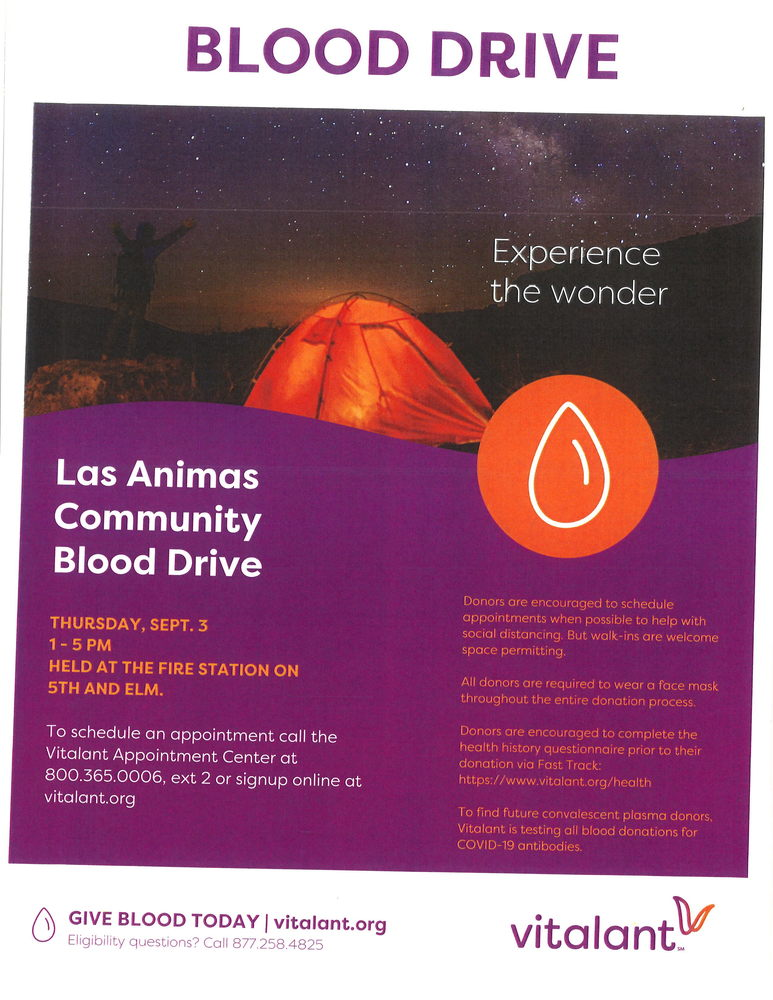 Las Animas Community Blood Drive