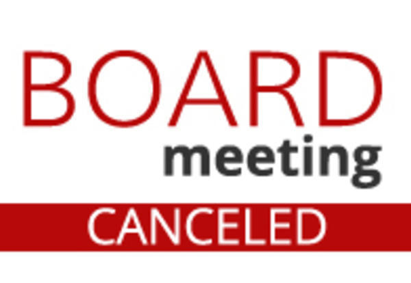 LASD Board Meeting Cancelled