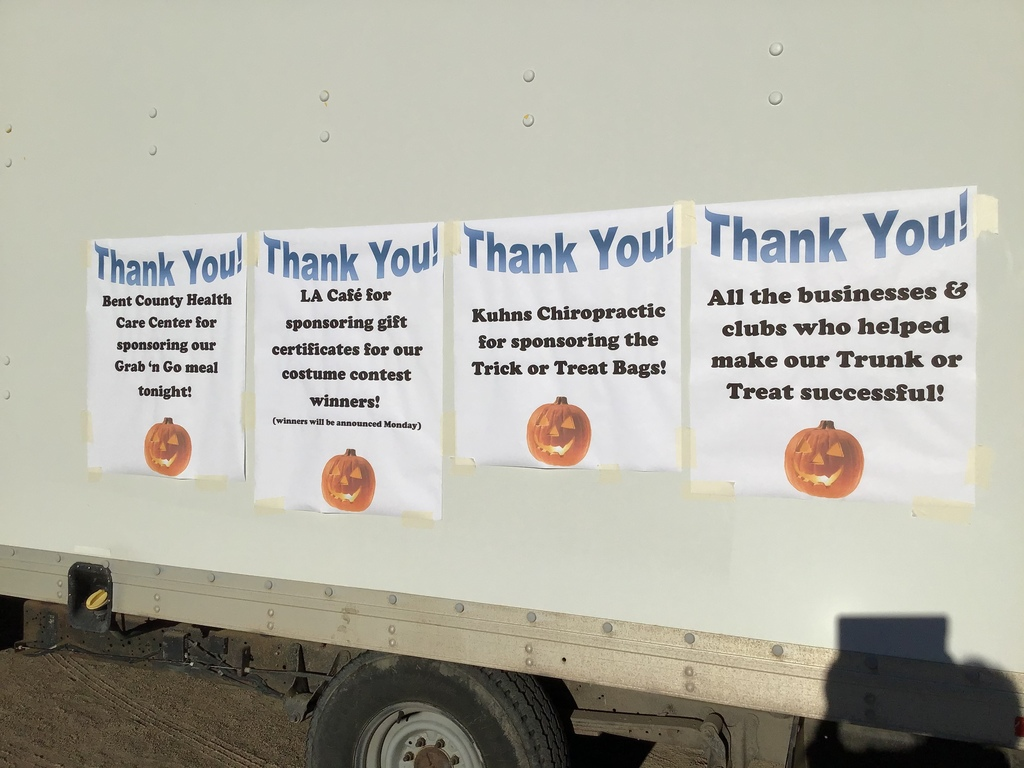Thank you'd for trunk or treat