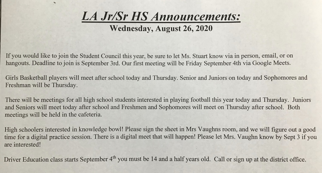 Pic of JR/Sr Announcements